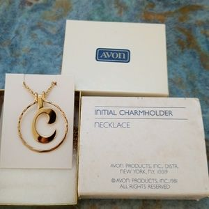 Vintage 1981 Avon Initial C Charmholder Necklace